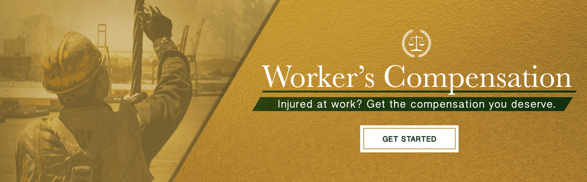 Worker injured at work.