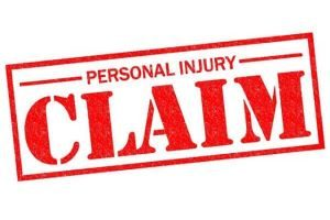 red personal injury claim sign