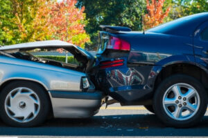 Image of a car accident and will be used as evidence by a lawyer in Idaho Falls.