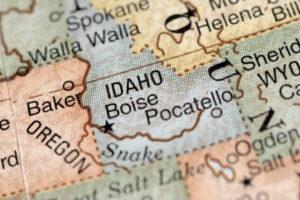 Map of Idaho.
