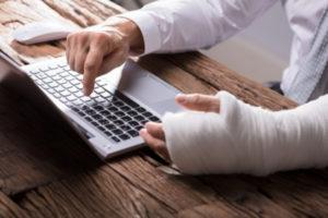 Injured man filing a personal injury case in Pocatello.